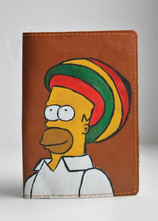 """Обложка на паспорт """"Гомер Симпсон"""""""