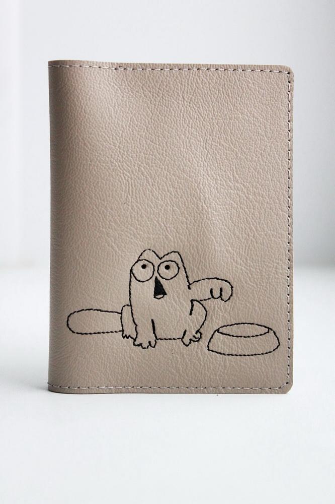 """Обложка на паспорт """"Голодный кот"""""""
