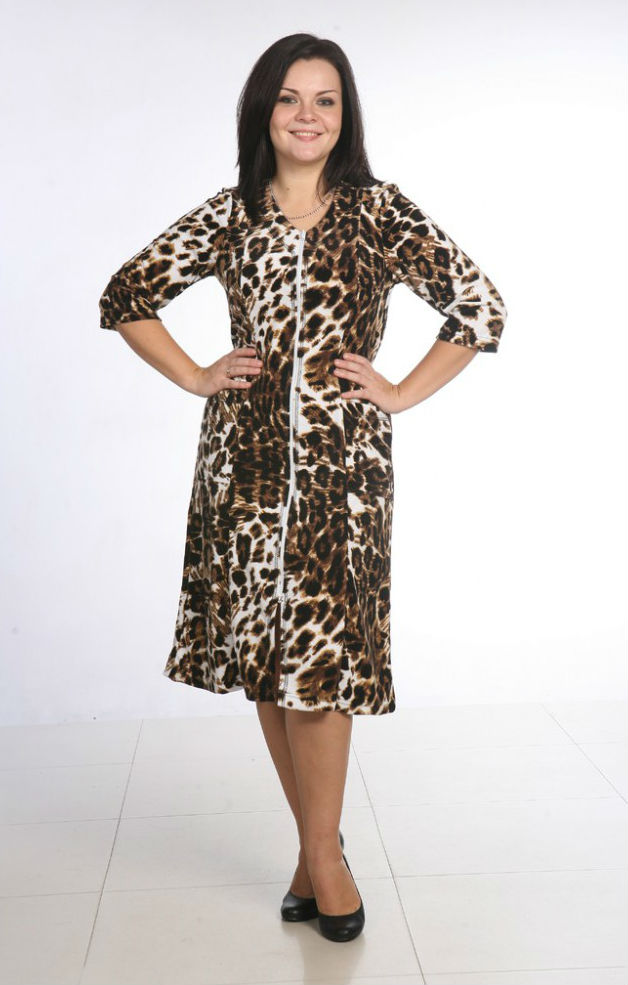 Халат женский ДоннисТеплые халаты<br>Размер: 58<br><br>Высота: 11<br>Размер RU: 58