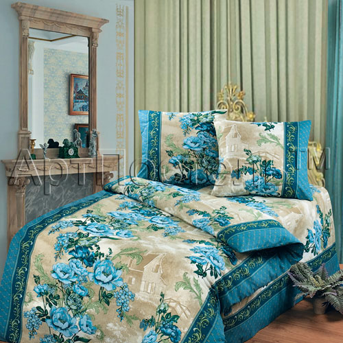 """Постельное белье """"Гобелен"""" синий (бязь) 1,5 спальный"""