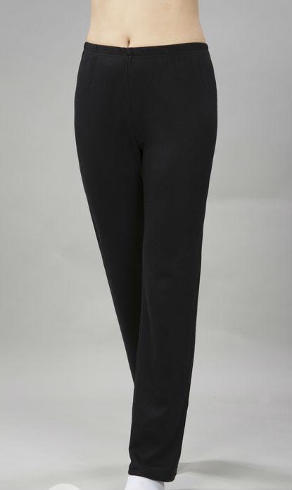 Брюки женские ЗояБрюки<br>Удобные хлопковые брюки обязательно должны присутствовать в вашем повседневном гардеробе, если вы любите прогулки по парку или много времени проводите на природе со своей семьей или друзьями.<br>Но их отсутствие можно легко исправить с помощью модели Зоя! Данные женские брюки сшиты из интерлока, они имеют прямой крой и выполнены в насыщенной черной расцветке, которая, кстати говоря, остается такой же насыщенной еще очень долгое время после покупки.<br>Брюки довольно эластичны, но при этом не склонны к вытягиванию и обвисанию на коленях или других местах, что является неоспоримым плюсом для данной модели!<br>Длина изделия<br>54 размер: длина брюк по внутреннему шву - 71 см, по внешнему шву - 101 см. Размер: 46<br><br>Высота: 9<br>Размер RU: 46