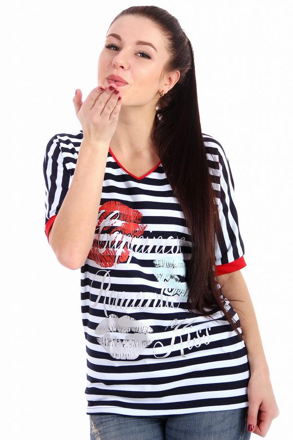 Футболка женская KissФутболки<br>Размер: 50<br><br>Принадлежность: Женская одежда<br>Основной материал: Трикотаж<br>Вид товара: Одежда<br>Материал: Трикотаж<br>Длина: 18<br>Ширина: 12<br>Высота: 7<br>Размер RU: 50