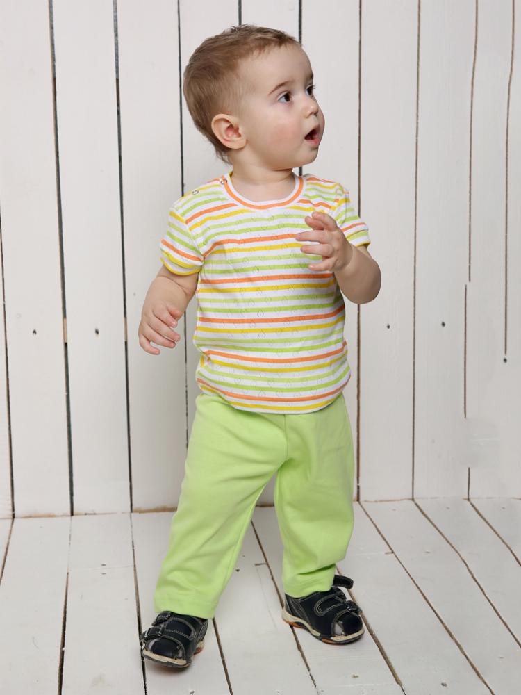Брюки СюрпризБрюки и брючки<br>Брюки Сюрприз - это брючки для мальчика до одного года. Изготовлены из хлопкового материала - интерлока. <br>Брюки свободного кроя на резинке достаточно удобны и практичны.<br> Детская модная одежда в интернет-магазине недорогая и качественная.<br>Размеры: 20-26. Размер: 28<br><br>Принадлежность: Детская одежда<br>Возраст: Младенец (0-12 месяцев)<br>Пол: Мальчик<br>Основной материал: Интерлок<br>Страна - производитель ткани: Россия, г. Иваново<br>Вид товара: Детская одежда<br>Материал: Интерлок<br>Длина: 18<br>Ширина: 12<br>Высота: 2<br>Размер RU: 28