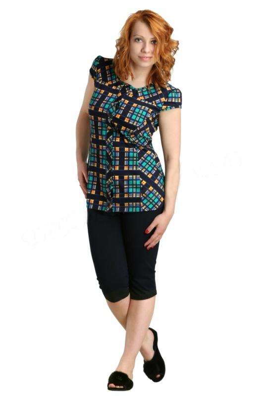 Костюм женский ТанисЛетние костюмы<br>Повседневные трикотажные комплекты - незаменимая находка для дома, отдыха и прогулок. Женский костюм Танис с бриджами и блузкой - действительно универсальное решение.<br>Кулирка - отличный материал для пошива легких вещей для сна и повседневной носки в жаркое время года. В составе - натуральный хлопок со всеми преимуществами: гигроскопичностью, влагопоглощением, вентилируемостью, экологичностью. Такие вещи приятны в жару, не причиняя дискомфорта и поддерживая здоровый теплообмен.<br>Комплект Танис - это сочетание простоты и ярких акцентов на темном однотонном фоне. Беспроигрышное сочетание не оставит равнодушных.<br> Размер: 50<br><br>Принадлежность: Женская одежда<br>Комплектация: Бриджи, блузка<br>Основной материал: Кулирка<br>Страна - производитель ткани: Россия, г. Иваново<br>Вид товара: Одежда<br>Материал: Кулирка<br>Сезон: Лето<br>Длина по спинке : 48-60 размер - 77 см<br>Тип застежки: Пуговицы<br>Состав: 100% хлопок<br>Длина рукава: Короткий<br>Длина: 18<br>Ширина: 12<br>Высота: 7<br>Размер RU: 50