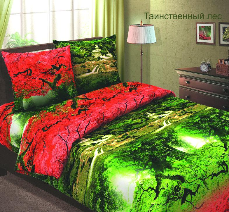 """Постельное белье """"Таинственный лес"""" (бязь) 1,5 спальный"""