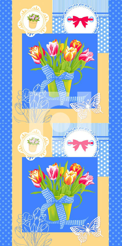 """Полотенце кухонное """"Букетик цветов"""" 50х70"""