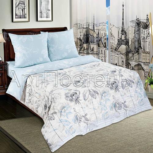"""Постельное белье """"Поэзия"""" (поплин) 2 спальный с Евро простынёй от Grandstock"""