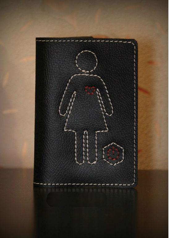 """Обложка для паспорта """"Девушка"""""""