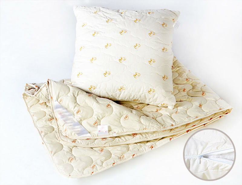 """Одеяло зимнее """"Аллегория"""" (овечья шерсть, тик) (2 спальный (172*205))"""