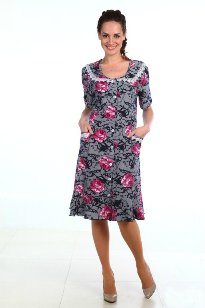 Халат женский ВегаЛегкие халаты<br>Размер: 56<br><br>Высота: 9<br>Размер RU: 56