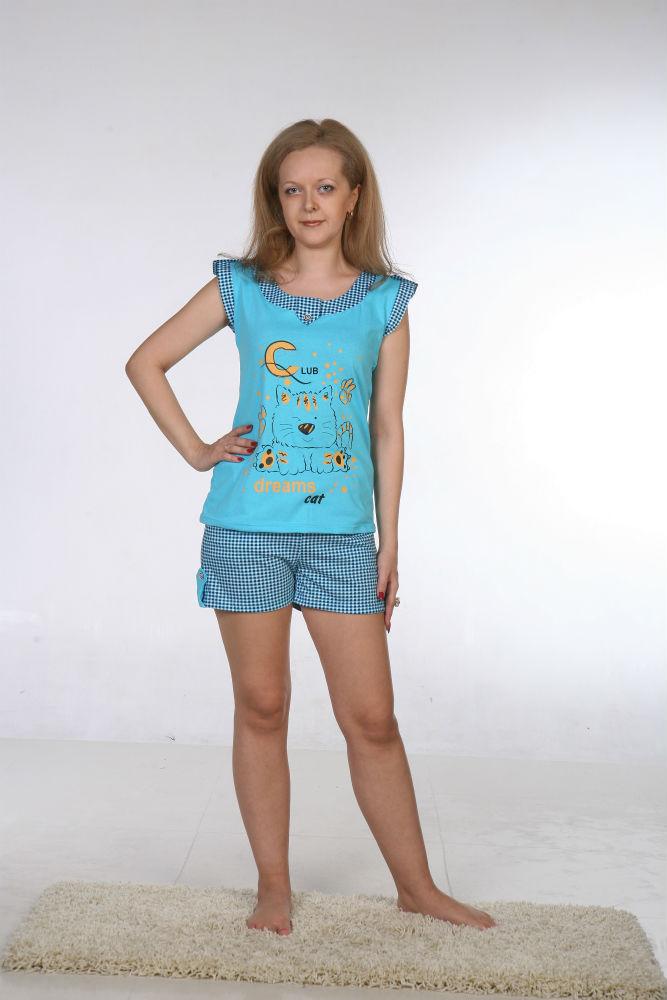 Пижама женская НикаПижамы<br>Размер: 50<br><br>Принадлежность: Женская одежда<br>Основной материал: Кулирка<br>Вид товара: Одежда<br>Материал: Кулирка<br>Длина: 18<br>Ширина: 12<br>Высота: 7<br>Размер RU: 50