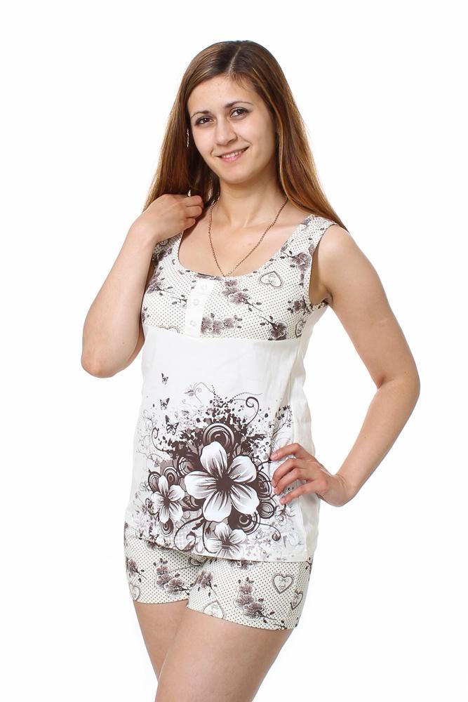 Пижама женская ЛейлаПижамы<br>Размер: 48<br><br>Принадлежность: Женская одежда<br>Основной материал: Кулирка<br>Вид товара: Одежда<br>Материал: Кулирка<br>Длина: 18<br>Ширина: 12<br>Высота: 7<br>Размер RU: 48