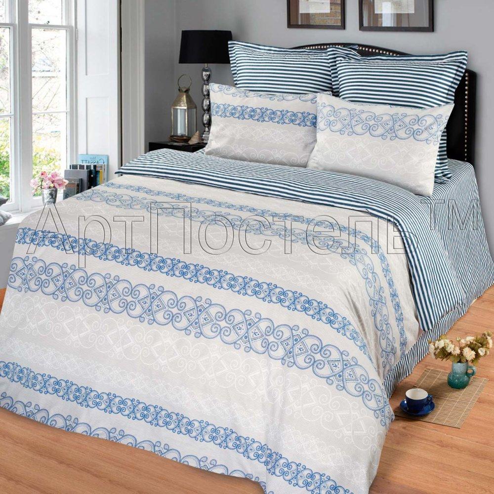 Постельное белье Бали (сатин) 2 спальный с Евро простынёй