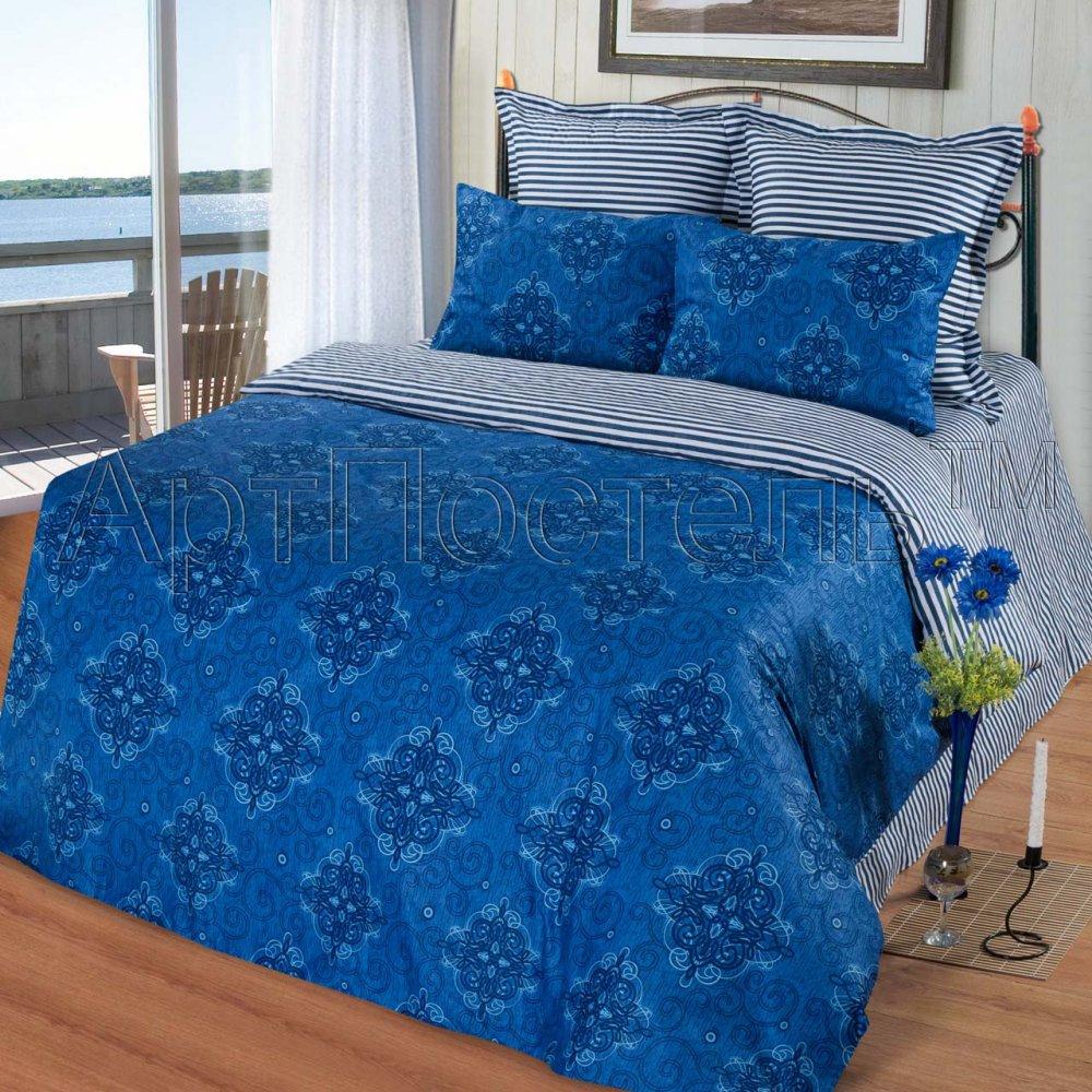 Постельное белье Капри (сатин) 2 спальный с Евро простынёй