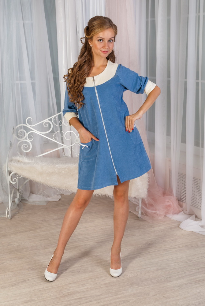 Халат женский ИнейТеплые халаты<br>Размер: 44<br><br>Принадлежность: Женская одежда<br>Основной материал: Махра<br>Страна - производитель ткани: Россия, г. Иваново<br>Вид товара: Одежда<br>Материал: Махра<br>Длина по спинке : 46 размер - 90 см<br>Тип застежки: Молния<br>Состав: 95% хлопок, 5% полиэстер<br>Длина рукава: Средний<br>Длина: 30<br>Ширина: 20<br>Высота: 11<br>Размер RU: 44