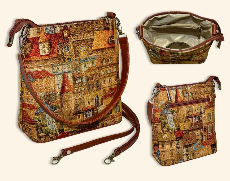 Сумка женская ПрагаНаплечные<br>Размеры сумки: 22х21х10 см<br><br>Высота: 10