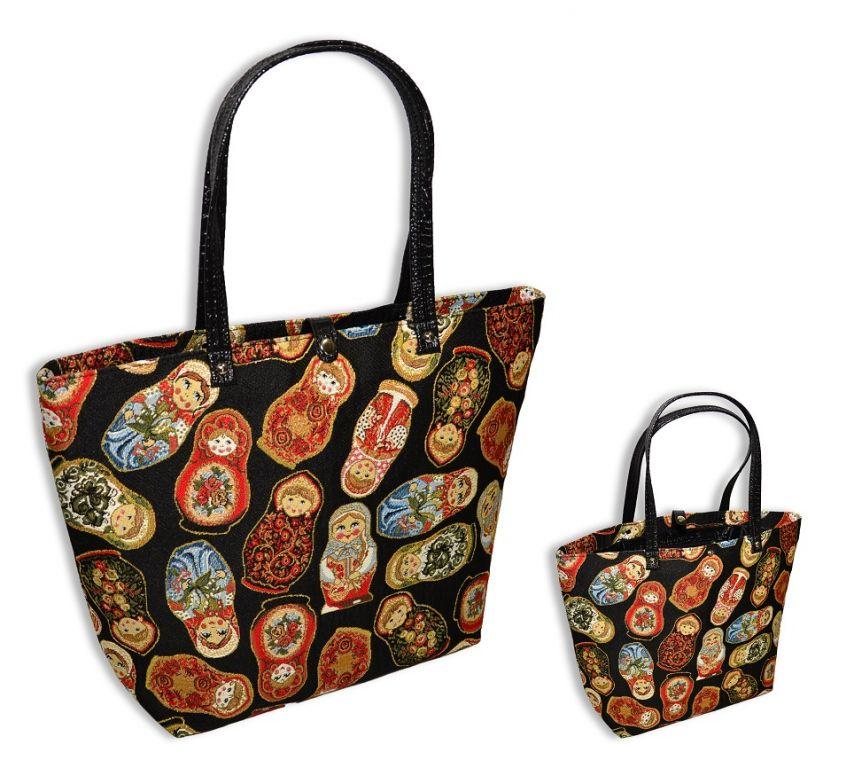 Сумка женская МатрешкиХозяйственные сумки<br>Размеры сумки: 31х29х15 см<br><br>Принадлежность: Женская одежда<br>Основной материал: Гобелен<br>Вид товара: Сумки<br>Материал: Гобелен<br>Сезон: Круглогодичный<br>Тип сумки: Повседневные<br>Длина: 31<br>Ширина: 29<br>Высота: 15
