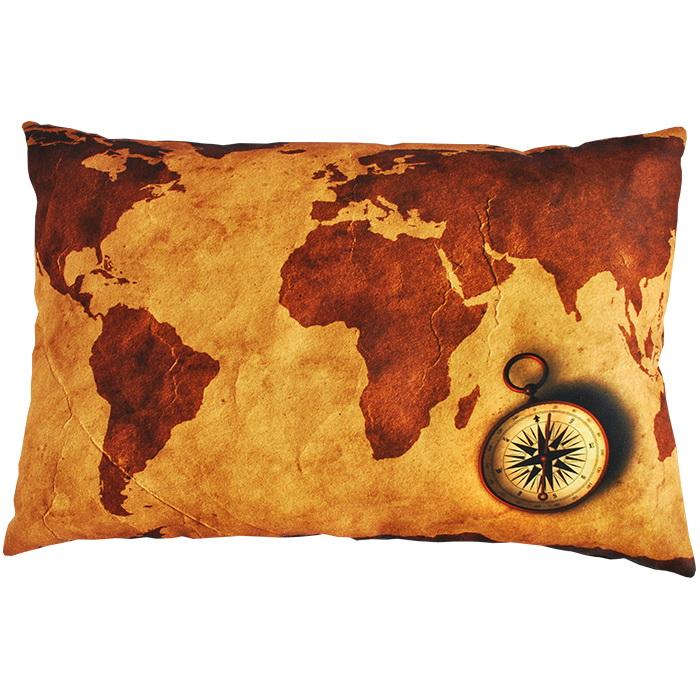 "Декоративная подушка ""Карта"" 35*55"