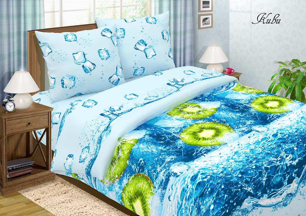 Постельное белье Киви (поплин) 2 спальныйПоплин<br>Размер: 2 спальный<br><br>Высота: 7<br>Размер RU: 2 спальный
