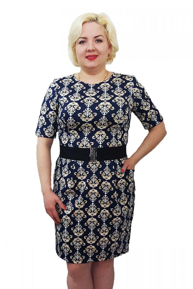 Платье женское ЖасминПлатья<br>Оригинальное и очень комфортное платье прилегающего силуэта из ткани с эффектным принтом. Идеальную посадку по фигуре обеспечивают рельефные швы. Платье отрезное по линии талии, с кармашками. Длина изделия около 95 см. Пояс не прилагается. Размер: 52<br><br>Принадлежность: Женская одежда<br>Основной материал: Масло<br>Вид товара: Одежда<br>Материал: Масло<br>Длина изделия: 95 см<br>Состав: 100% полиэстер<br>Длина: 18<br>Ширина: 12<br>Высота: 7<br>Размер RU: 52