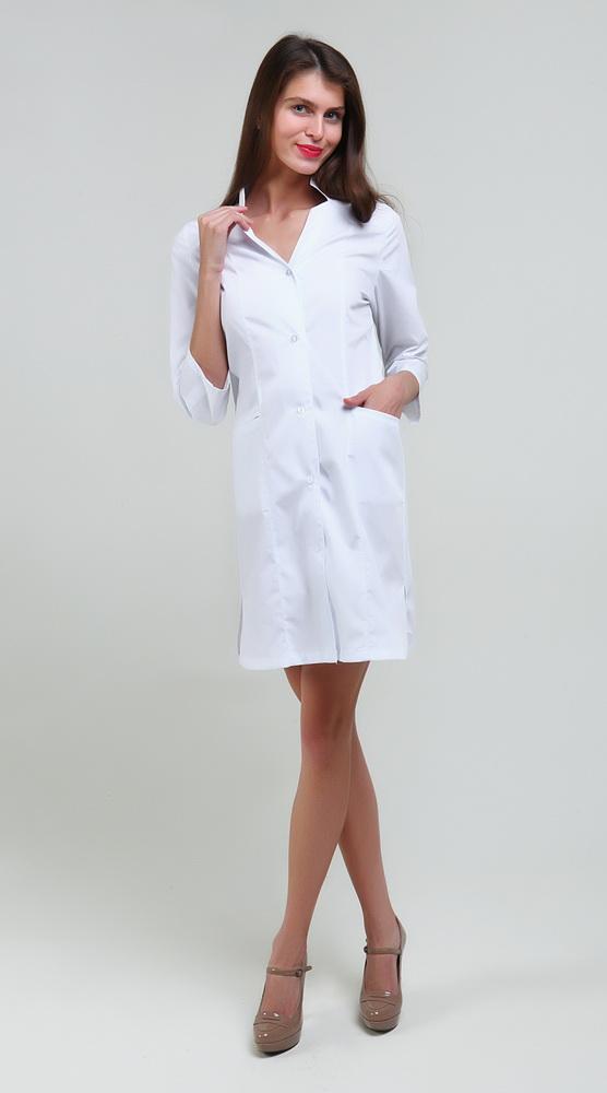 Халат медицинский АлисаДля врачей<br>Размер: 52<br><br>Высота: 7<br>Размер RU: 52