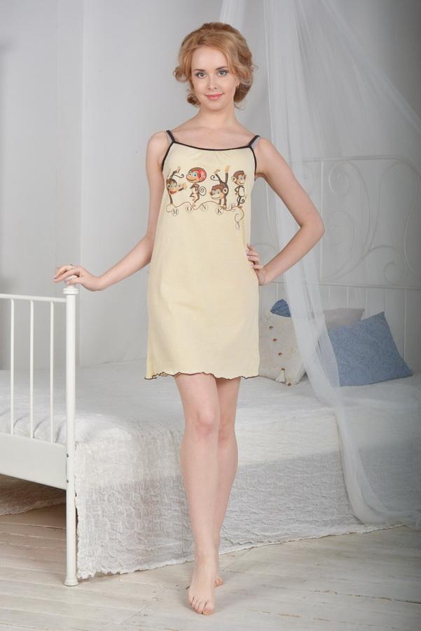 Ночная сорочка ШалуньяСорочки и ночные рубашки<br>Размер: 48<br><br>Принадлежность: Женская одежда<br>Основной материал: Кулирка<br>Вид товара: Одежда<br>Материал: Кулирка<br>Длина: 18<br>Ширина: 12<br>Высота: 7<br>Размер RU: 48