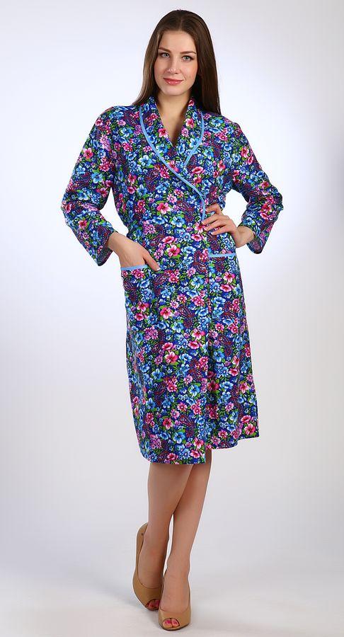 Халат женский ЯнварьТеплые халаты<br>Дом - место, ассоциирующееся с теплом и комфортом. Именно поэтому так важно окружать себя соответствующими вещами. Это касается и выбора домашней одежды, в которой мы проводим значительную часть времени.<br>Особенность халата женского Январь - оригинальный покрой, сочетающийся с использованием мягкой, привлекательной, приятной телу фланели. Благодаря средней длине и рукавам, халат хорошо согреет в холодное время года. Ткань с уникальной нежной текстурой неприхотлива и практична. <br>Приобрести женский халат Январь можно совершенно недорого. Его стоимость сполна окупается высоким качеством и приятным дизайном.<br>Женский халат из фланели - это еще и качественное изделие от ивановского производителя.<br>Плотность ткани: 190 г/кв.м<br>Длина изделия<br>46 размер - 110 см. Размер: 60<br><br>Принадлежность: Женская одежда<br>Основной материал: Фланель<br>Страна - производитель ткани: Россия, г. Иваново<br>Вид товара: Одежда<br>Материал: Фланель<br>Тип застежки: Без застежки<br>Состав: 100% хлопок<br>Длина рукава: Длинный<br>Длина: 30<br>Ширина: 20<br>Высота: 11<br>Размер RU: 60