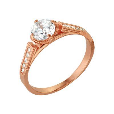 Кольцо серебряное 2386179Серебряные кольца<br>Вес  3,00<br>Вставка  Фианит<br>Покрытие  Золочение Размер: 16.5<br><br>Высота: 3<br>Размер RU: 16.5