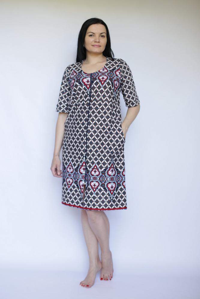 Халат женский ЗвездаЛегкие халаты<br>Размер: 52<br><br>Высота: 9<br>Размер RU: 52