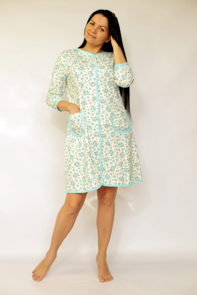 Халат женский МашенькаТеплые халаты<br>Стирка строго 30 градусов Размер: 54<br><br>Высота: 10<br>Размер RU: 54