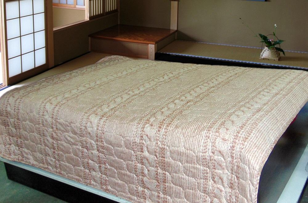 Покрывало Вязаный узор (полиэстер) (150х210) покрывало самурай велсофт 150х210