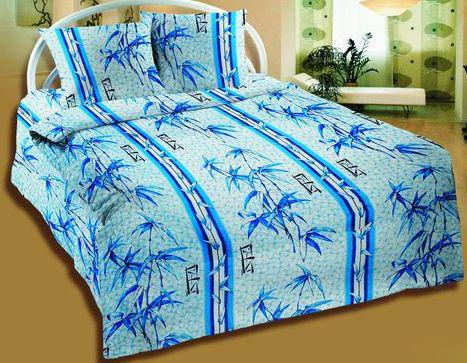 """Постельное белье """"Бамбук синий"""" (бязь) 2 спальный от Grandstock"""