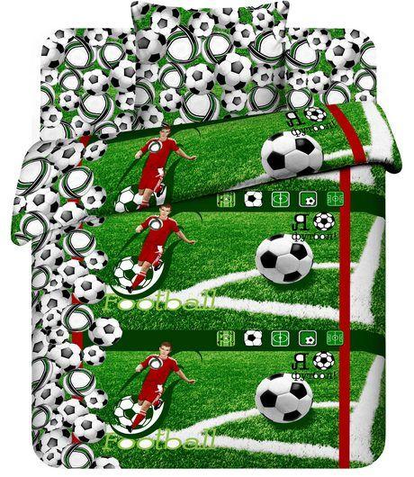 Постельное белье Футболист (бязь) 1,5 спальныйДетские КПБ<br>Размер: 1,5 спальный<br><br>Высота: 8<br>Размер RU: 1,5 спальный