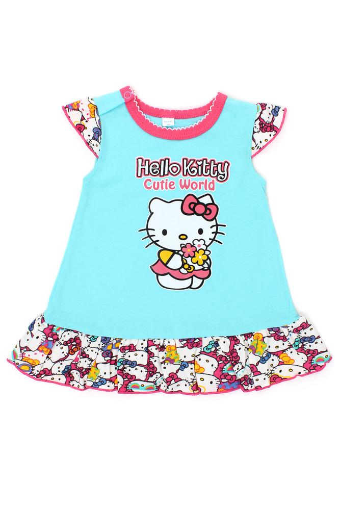 Платье детское КиттиПлатья и юбки<br>Выбор детской одежды - проблема, известная всем родителям, ведь любимому чаду хочется подобрать все самое лучшее. Таким приобретением станет яркое и красочное платье детское Китти.<br>Интересные расцветки подарят хорошее настроение, а удобный крой не стесняет движений. Основной материал - легкая и практически невесомая кулирка на основе стопроцентного хлопка. Гипоаллергенная ткань абсолютно безопасна, не вызывает раздражения и не нуждается в сложном уходе.<br>Детское платье Китти легко стирается, долгое время не теряет первоначального вида, не выцветает и не линяет. Еще одно преимущество, которое наверняка оценят экономные родители - доступная стоимость. Размер: 26<br><br>Принадлежность: Детская одежда<br>Возраст: Младенец (0-12 месяцев)<br>Пол: Девочка<br>Основной материал: Кулирка<br>Страна - производитель ткани: Россия, г. Иваново<br>Вид товара: Детская одежда<br>Материал: Кулирка<br>Состав: 100% хлопок<br>Длина: 19<br>Ширина: 12<br>Высота: 5<br>Размер RU: 26