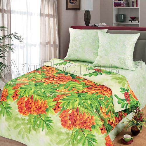 Постельное белье Рябинушка (бязь) (зима-лето) 2 спальный с Евро простынёй
