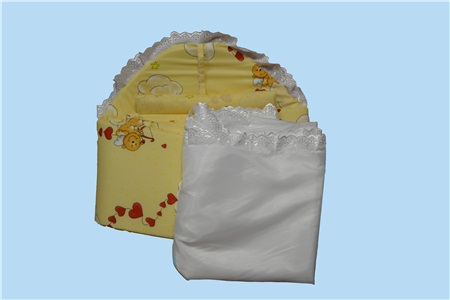 Набор в кровать (поплин)Наборы в кроватку, в коляску<br>Определиться с расцветкой Вы можете здесь<br>Состав: КПБ, бампер, балдахин (капрон) . Бампер трехсторонний.Размеры: 60*120*30. Балдахин 4 метра по периметру кровати.<br><br>Принадлежность: Детская одежда<br>Возраст: Младенец (0-12 месяцев)<br>Пол: Унисекс<br>Основной материал: Поплин<br>Страна - производитель ткани: Россия, г. Иваново<br>Вид товара: Детская одежда<br>Материал: Поплин<br>Состав: 100% хлопок<br>Длина: 30<br>Ширина: 20<br>Высота: 11
