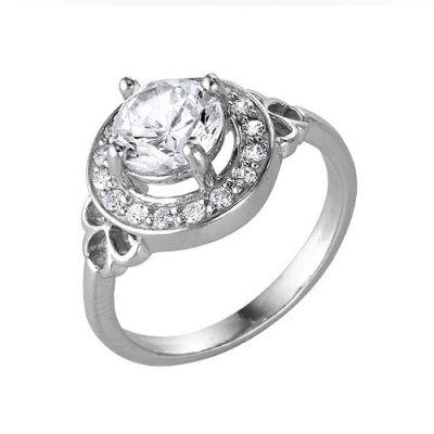 Кольцо серебряное 2386536ДСеребряные кольца<br>Вес  3,29<br>Вставка  фианиты<br>Покрытие  родирование Размер: 17.5<br><br>Высота: 3<br>Размер RU: 17.5