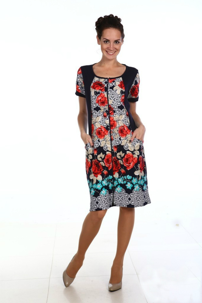 Халат женский ПерсеяЛегкие халаты<br>Предпочитаете оставаться стильной, модной, привлекательной и уверенно, независимо от времени и обстоятельств? Возьмите на заметку халат женский Персея!<br>Сдержанная, элегантная расцветка сочетается со свободным и изящным кроем. Обширная размерная линейка позволяет подыскать модель для себя. Основной материал - легкая и невесомая кулирка. Она практически не чувствуется на теле, обладает оптимальной гигроскопичностью и воздухопроницаемостью, легко стирается, почти не сминается и не теряет форму при постоянных стирках.<br>Женский халат Персея найдет свое место в гардеробе каждой модницы! Обязательно оцените также его доступную стоимость! Размер: 46<br><br>Принадлежность: Женская одежда<br>Основной материал: Кулирка<br>Страна - производитель ткани: Россия, г. Иваново<br>Вид товара: Одежда<br>Материал: Кулирка<br>Сезон: Лето<br>Тип застежки: Молния<br>Состав: 100% хлопок<br>Длина рукава: Короткий<br>Длина: 19<br>Ширина: 17<br>Высота: 9<br>Размер RU: 46