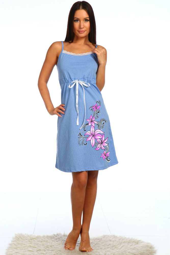 Сорочка женская КристаллСорочки и ночные рубашки<br>Размер: 52<br><br>Принадлежность: Женская одежда<br>Основной материал: Кулирка<br>Вид товара: Одежда<br>Материал: Кулирка<br>Длина: 18<br>Ширина: 12<br>Высота: 7<br>Размер RU: 52