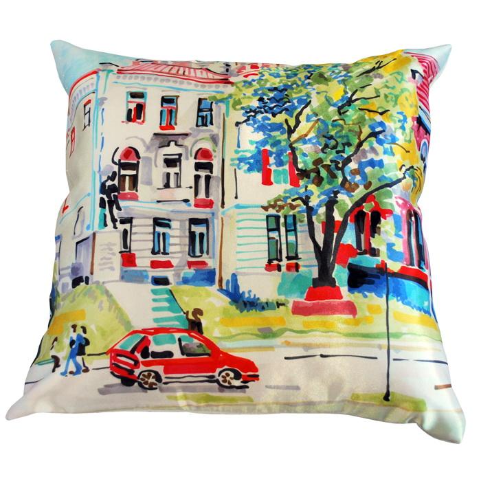 "Декоративная подушка ""Дом в Париже"" 38*38"