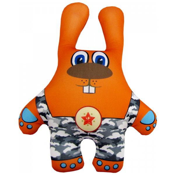 """Антистрессовая игрушка """"Заяц в камуфляже оранжевый"""" 38х26"""