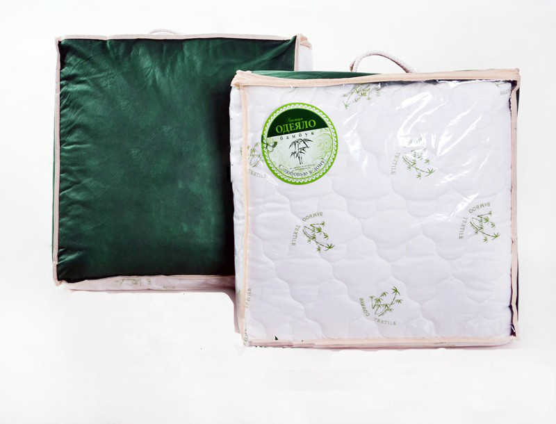 Одеяло зимнее Андромеда (бамбук, сатин) Евро-1 (200*220)