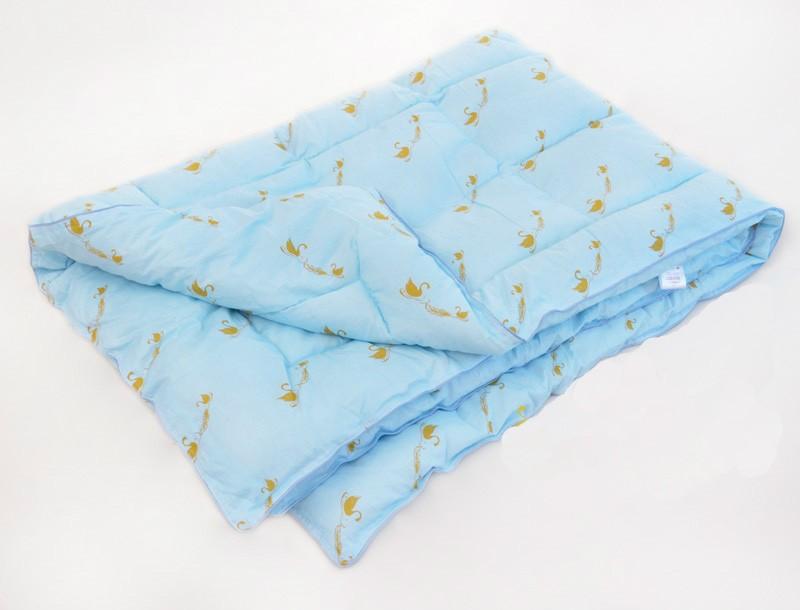"""Одеяло зимнее """"Зефир"""" (лебяжий пух, сатин) (1,5 спальный (140*205))"""