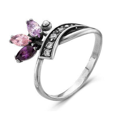 Кольцо серебряное 2382484-9Серебряные кольца<br>Вес  2,73<br>Вставка  фианиты<br>Покрытие  оксидирование Размер: 19.0<br><br>Высота: 3<br>Размер RU: 19.0