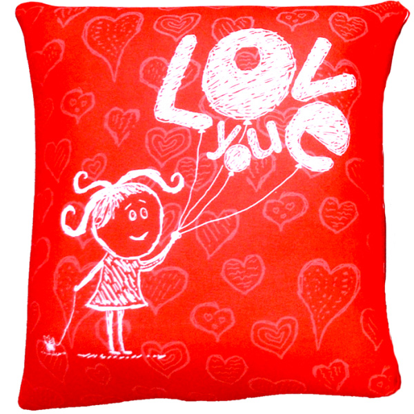 "Антистрессовая подушка ""Love"" 35*35 от Grandstock"