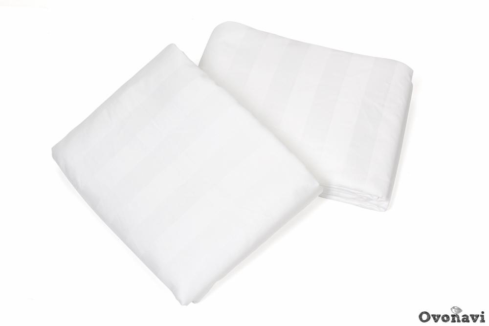 Простыня страйп-сатин в ассортименте (пл. 125 грамм) 1.5 спальный (145х215)
