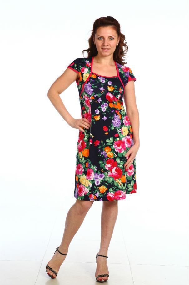 Сарафан женский ИлаСарафаны<br>Блесните своим чувством стиля этим летом! И поможет вам в этом модный женский сарафан Ила из каталога женской одежды нашего интернет-магазина.<br>Данный сарафан сшит из мягкой и нежной кулирки, которая на 100% состоит из натурального хлопкового волокна. А дизайн сарафана выполнен в ярких и сочных тонах, поэтому вы точно будете находиться в центре внимания, куда бы вы ни надели его: на прогулку по городу или встречу с друзьями в летнем кафе. Женственный цветочный узор придаст вашему образу шарма и очарования.<br>Женский сарафан Ила также имеет довольно удобныйфасон, рукава крылышки и яркую окантовку. Приобрести его вы можете по довольно привлекательной цене и прямо сейчас на сайте нашего интернет-магазина в режиме онлайн! Размер: 54<br><br>Принадлежность: Женская одежда<br>Основной материал: Кулирка<br>Страна - производитель ткани: Россия, г. Иваново<br>Вид товара: Одежда<br>Материал: Кулирка<br>Сезон: Лето<br>Тип застежки: Без застежки<br>Состав: 100% хлопок<br>Длина рукава: Короткий<br>Длина: 18<br>Ширина: 12<br>Высота: 7<br>Размер RU: 54