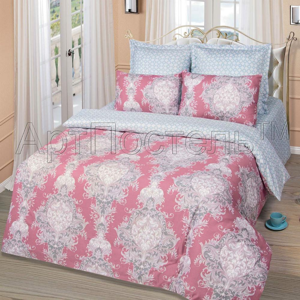 Постельное белье Леонардо (сатин) 2 спальный с Евро простынёй