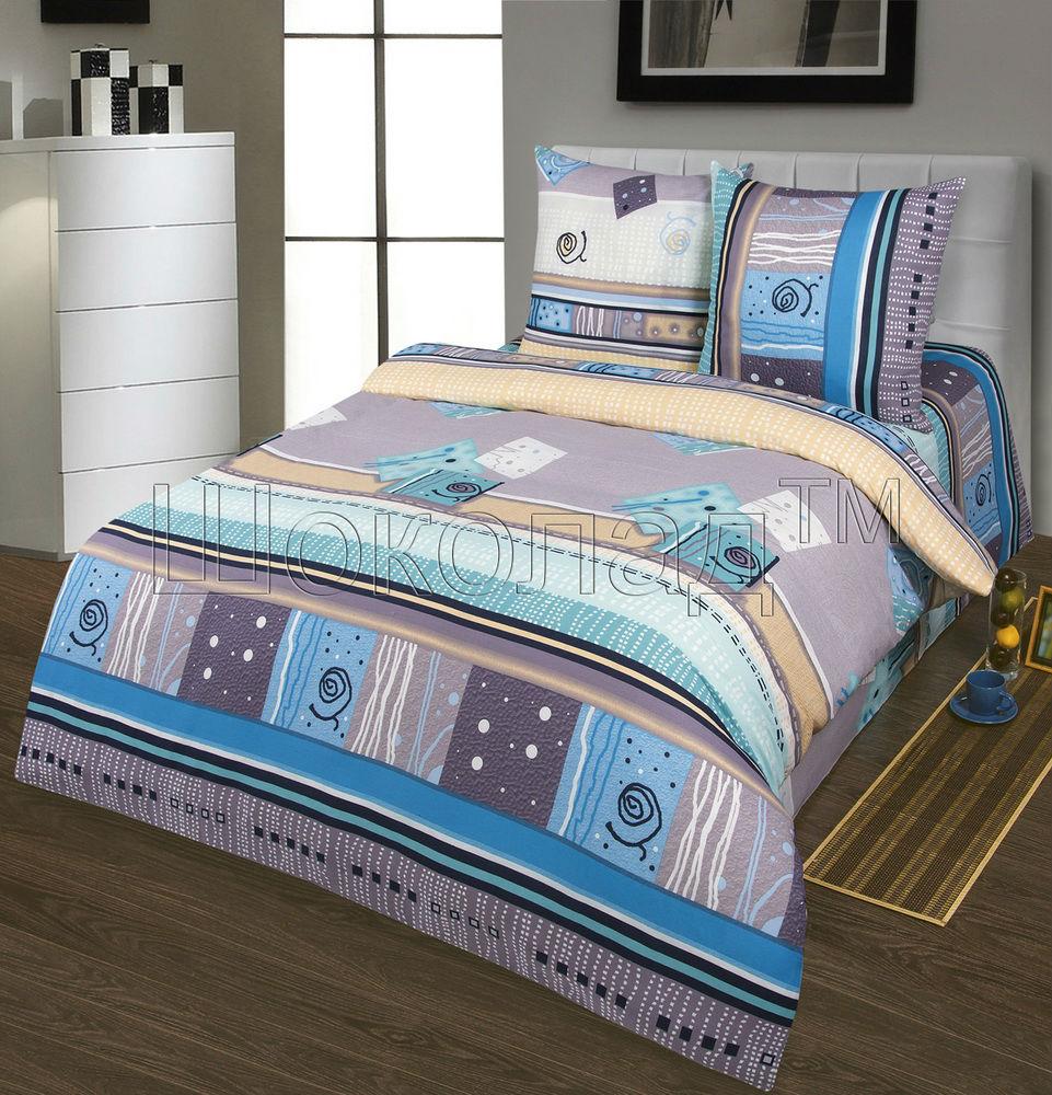 Постельное белье Миражи (бязь) 2 спальный с Евро простынёй