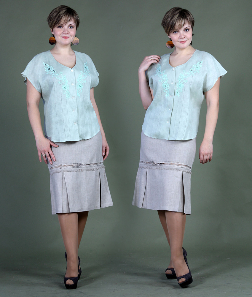Блузка льняная с вышивкой модель Белла (большемерка)Блузки<br>Данный вид товара является большемеркой. Необходимо брать размер отличный от вас на два.<br>Например:<br>- если вы носите 44 размер, то по данному товару вам нужно выбрать 40 размер<br>- если вы носите 48 размер, то по данному товару вам нужно выбрать 44 размер и т.д.<br>Учитывайте это при выборе размера.<br>Длина по спинке : 57 см Полуобхват груди под проймой : 53 см Длина рукава с плечом : 22 см Размер: 44<br><br>Принадлежность: Женская одежда<br>Основной материал: Лен<br>Страна - производитель ткани: Россия, г. Пучеж<br>Вид товара: Одежда<br>Материал: Лен<br>Длина: 18<br>Ширина: 12<br>Высота: 7<br>Размер RU: 44